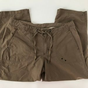 Columbia Brown Hiking Camp Utility Pockets Drawstr